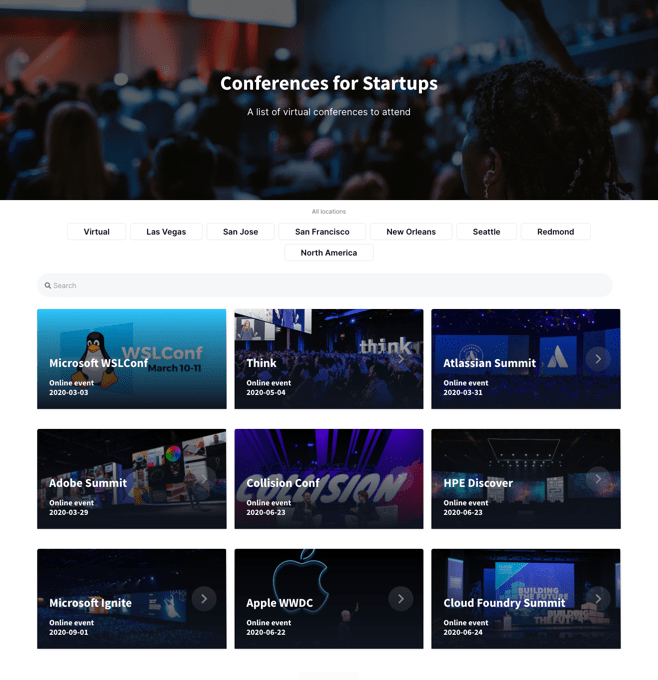 An events site like Meetup